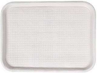 Chinet Savaday Molded Fiber Flat Food Tray, White, 12x16 - 200 trays per case.
