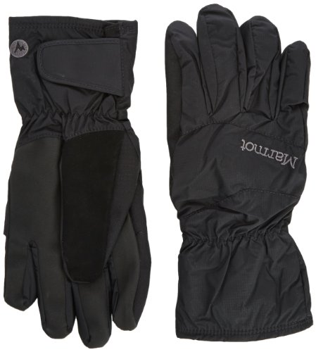 Marmot Uni Handschuh Wind und Wasserdicht PreCip Undercuff Glove, Black, XS, 15920