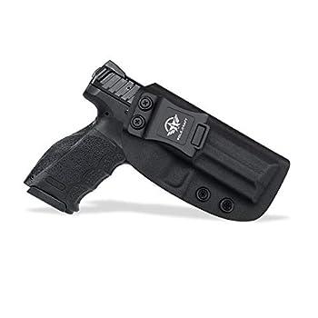 HK VP9 Holster Kydex IWB Holster for Heckler & Koch  H&K  HK VP9 Concealed Carry - Inside Waistband Carry Concealed Holster VP9 H&K Pistol Case Guns Accessories  Black Right Hand Draw