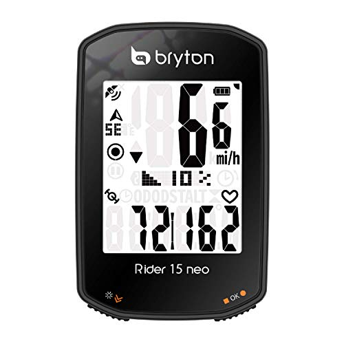 Bryton Rider 15 neo GPS Bike/Cycling Computer Device Only: Twist   Click   Go! 3...