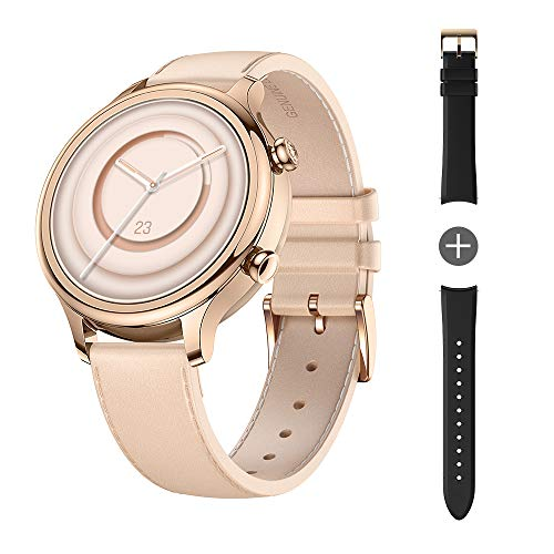 TicWatch C2 Plus 1GB RAM Wear OS by Google GPS NFC Payment IP68 Water and Dust Proof Smartwatch, Two Straps Included, iOS and Android Compatible-Rose Gold
