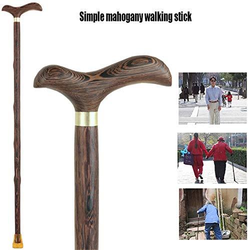Cyyh wandelstok kippenvleugels hout wandelstok met massief hout antislip Redwood leeftijd man hand gesneden wandelstok