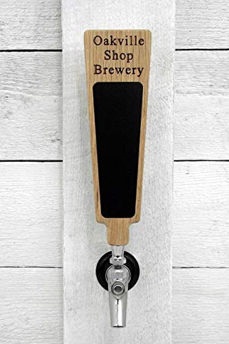 Custom personalized beer tap handle with Premium Surface marker board. Engraved with your personalized text. Great for tap rooms, breweries and home kegerators.