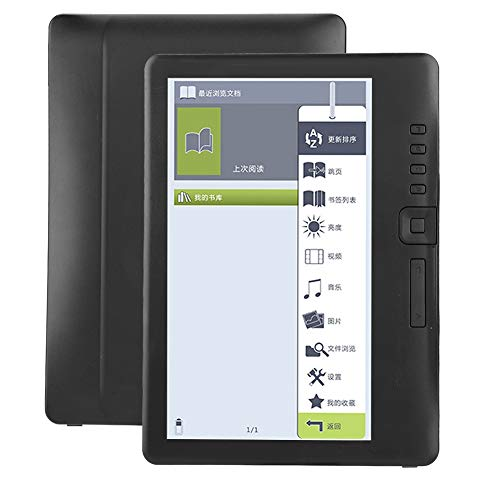 ASHATA Lettore di E-Book da 7 Pollici, Display colorato Impermeabile ad Alta risoluzione, Scheda TF di Supporto da 4 GB / 8 GB / 16 GB(8G)