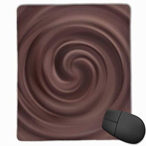 Office Mousepad Liquid Chocolate Swirl Hintergrund Gaming Mausmatte, Rutschfeste Gummibasis 25*30Cm