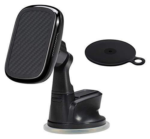 Tenedor de teléfono de coche magnético Cargador inalámbrico MAGEZ MOUNT QI diseñado Magsez Funda Magnético Titular de teléfono para automóvil 360 ° Rotación de carga rápida y ventiladores de enfriamie
