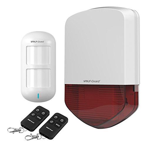 Lobo Guardia 433mhz sistema de alarma al aire libre lb-01a Flash sirena 12V con mando a distancia PIR, 110Db