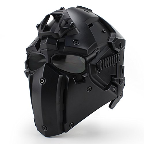 WoSporT Tactical Obsidian Green GOBL Terminator Helmet & Mask Goggle for Hunting Paintball Military Cosplay Movie Prop