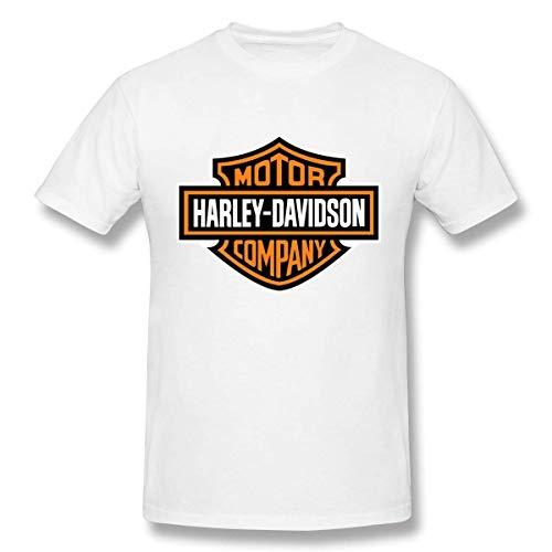 Magliette Classiche da Uomo con Logo Harley Davidson Bianco,5XL