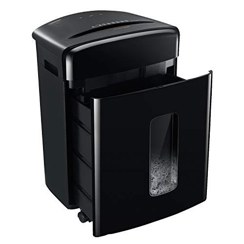 Bonsaii 15 Blatt Kreuzschnitt Aktenvernichter, 10-Minute Dauerbetrieb, schneidet Papier/Kreditkarten/Klammern, P-4 Hochsicherheitsstufe für Büro- und Heimgebrauch(C221-A)
