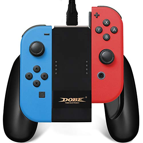 Joy Con Charging Grip,Comfort Joycon Grip and Portable JoyCon Charger Dock with Type-C High-Speed Charging Cable for Nintendo Switch