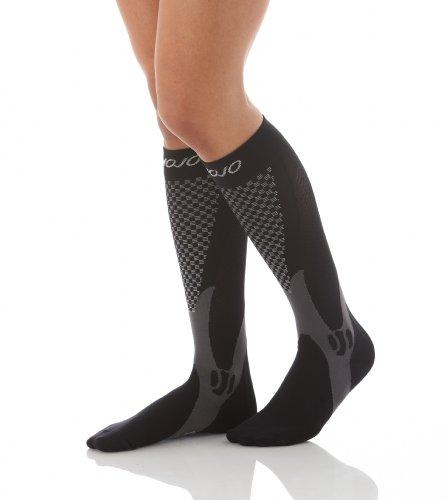 Mojo Compression Socksfor Woman & Men - Plus Size 20-30 mmHg- Black 3X-Large A602BLACK6