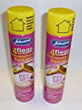 Brand New 2 x Johnsons Flea Household Spray 600ml Home Animal Cats Dogs Kills Fleas