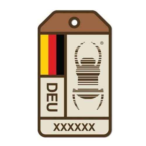 geo-versand Travelbug Aufkleber Geocaching Groundspeak German trackbar Sticker bunt