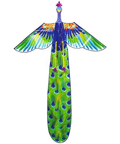 Phoenix Riesiger 3D-Vogel einfach, um Kite für Kinder und Erwachsene, einzelne Zeile mit Spule für den Strandpark und im Freien zu fliegen (Color : Purple Peacock)