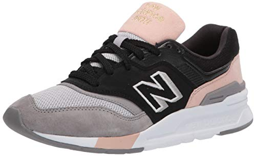 New Balance Women's 997H V1 Sneaker, Black/Smoked Salmon, 8 M US
