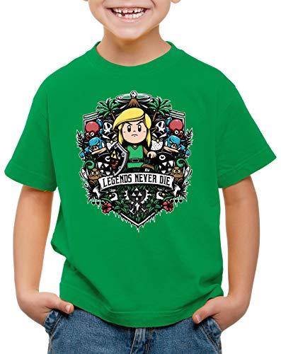 style3 Koholint Legend T-Shirt per Bambini e Ragazzi Awakening Switch Hyrule, Colore:Verde, Dimensione:140