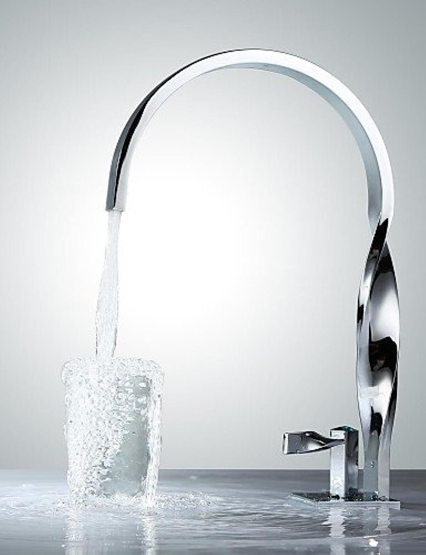 Marcu HOME Contemporary Chrome Finish Brass One Hole Single Handle Bathroom Sink Faucet