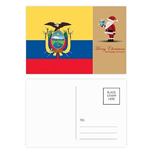 Ecuador Nationalflagge Südamerika Land Santa Claus Postkarten-Set, 20 Stück