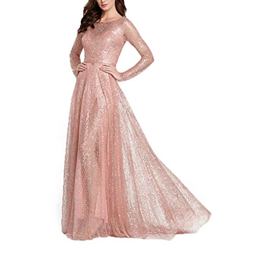 Rosatro Western Women Mixi Dress,Women Sexy A-Line Western Party Lace Sequin Solid Camis Back Hollow V-Neck Long Party Elegant Dress Skater Fancy Dress for Women/Girl/Lady