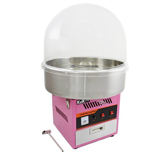 KUKOO Máquina de Algodón de Azúcar Acero Inoxidable Máquina Eléctrica para Hacer Algodón de Azúcar Cotton Candy Machine Commercial