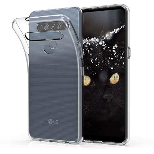 kwmobile Hülle kompatibel mit LG K61 - Silikon Handyhülle transparent - Handy Hülle in Transparent