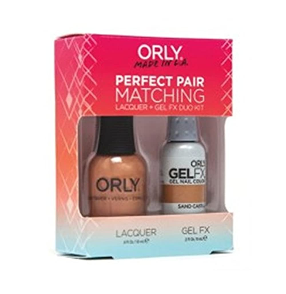 ドキュメンタリー格納不均一Orly - Perfect Pair Matching Lacquer+Gel FX Kit - Sand Castle - 0.6 oz / 0.3 oz