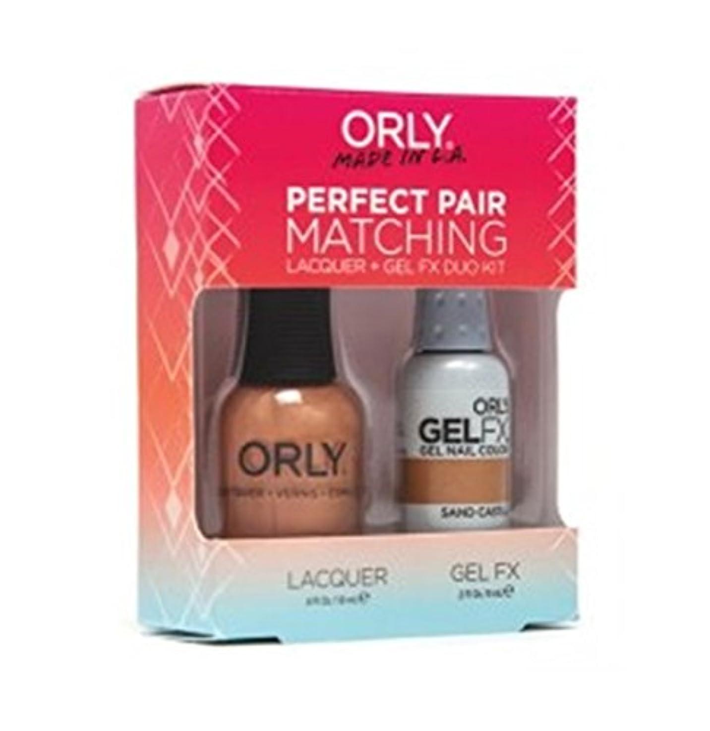 中不潔圧倒的Orly - Perfect Pair Matching Lacquer+Gel FX Kit - Sand Castle - 0.6 oz / 0.3 oz