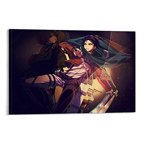 STTYE Impresion en lienzo de Attack on Titan para decoracion del hogar, impresiones artisticas de pared de 20 x 30 cm