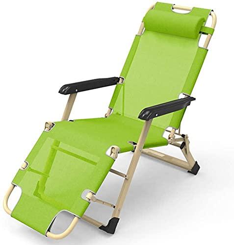 KMILE Silla reclinable para exteriores, con gravedad cero, reclinable, para patio, resistente, sillas de gravedad cero, jardín, playa, tumbonas, sillas plegables (color: C)