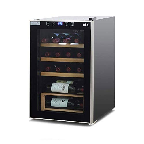 Red Wine Thermostat Constant Temperature Wine Cooler Home Small Wine Refrigerator Air-Cooled Frost-Free Refrigerated Cigar Cabinet Wine Cooler Food Preservation (Color : Black, Size : 43 * 46 * 70cm)