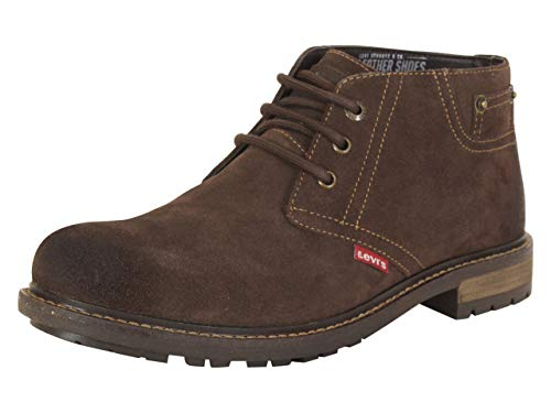 Levi's Mens Cambridge Suede Leather Casual Chukka Boot, Brown, 10 M