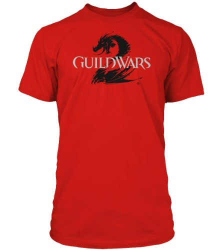Guild Wars 2 T-Shirt - Logo Black on Red, Größe L