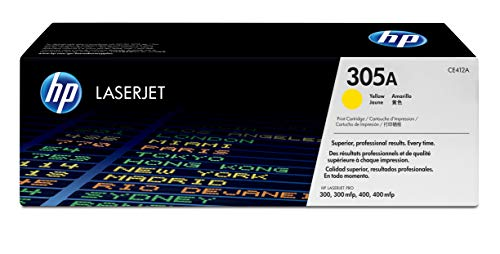 HP 305A | CE412A | Toner Cartridge | Yellow | Works with HP LaserJet Pro Color M451 series, M475 series, M375nw