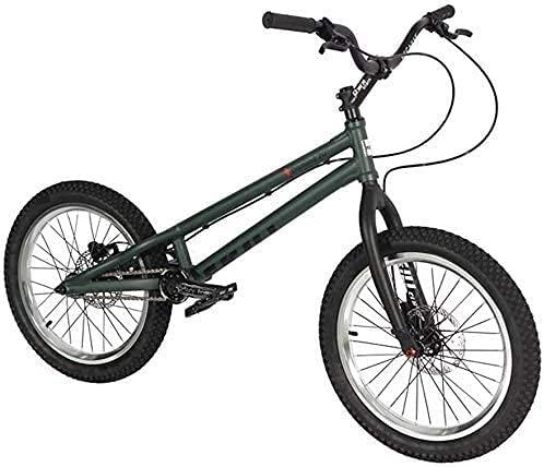 N&I Bicicleta BMX de 20 pulgadas, marco de aleación de aluminio de alta resistencia, horquilla de doble capa tipo a ruedas Magura Mt2 Brake