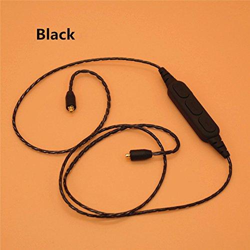 krq para Shure SE 215425535846edición especial (SE535LTD) Logitech UE900Ultrazone IQ Sony XBA-H3XBA-H2HA-FX850, Bluetooth de actualización de repuesto Cable de audio Auriculares Línea