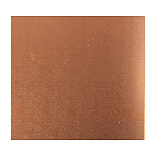 ZQQZ Placa de Cobre de Cobre Puro Hoja de Cobre Hoja de Metal de Cobre para joyería, Manualidades, Reparaciones, esmaltado, eléctrico, Espesor de 200mm*300mm*1.2/1.5mm,200mmx300mmx1.5mm