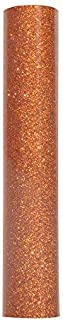 Glitter Orange Heat Transfer Vinyl Iron-on Vinyl Roll for T-Shirts and for cricut 0.8 x 5 FT Copper