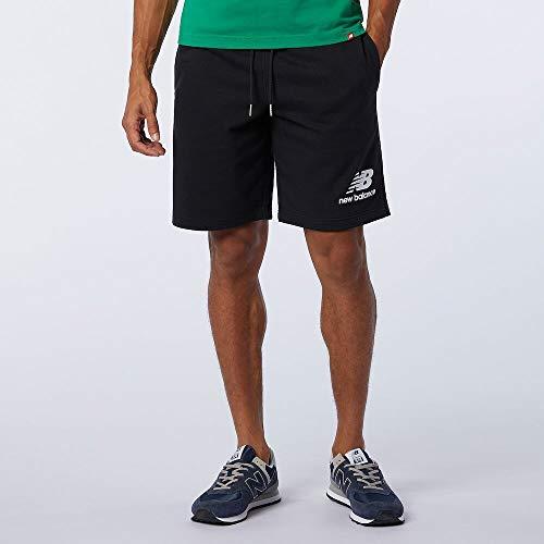 New Balance MS03558 Pantalón Corto Deportivo para Hombre, Negro, Talla: M