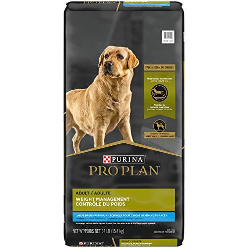 Purina Pro Plan Large Breed Weight Management Dog Food, Chicken & Rice Formula - 34 lb. Bag