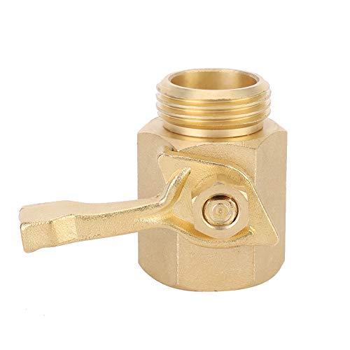 Heaveant Válvula de Bola, FNPT MNPT 26 mm DN20 3/4'Conector de válvula de Bola de Paso único Recto de latón para jardín