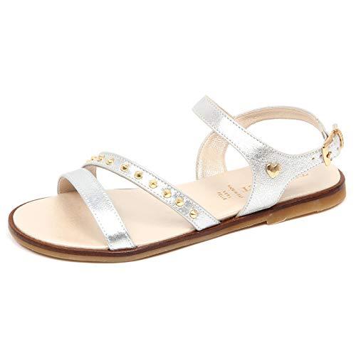 E8686 Sandalo Bimba Girl Twin-Set Scarpe Borchie Silver Shoe Sandal [33]