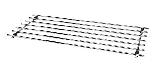 CKB LTD® – Grand dessous de plat rectangulaire en acier chromé, protection de plan de travail en métal pour poser casseroles et poêles, 50 x 24 cm