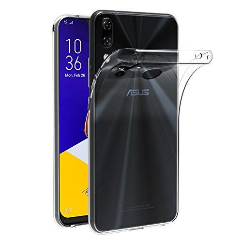iVoler Cover Compatibile con ASUS Zenfone 5 ZE620KL 6.2 Pollici/ASUS Zenfone 5Z ZS620KL 6.2 Pollici, Silicone Case Molle di TPU Trasparente Sottile Custodia
