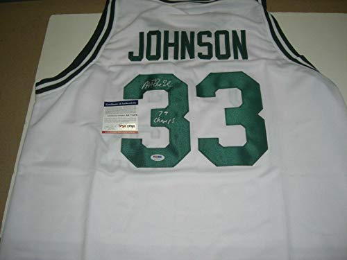 Magic Johnson Michigan State 1979 Champs Last One Psa/dna Signed Jersey - Autographed College Jerseys