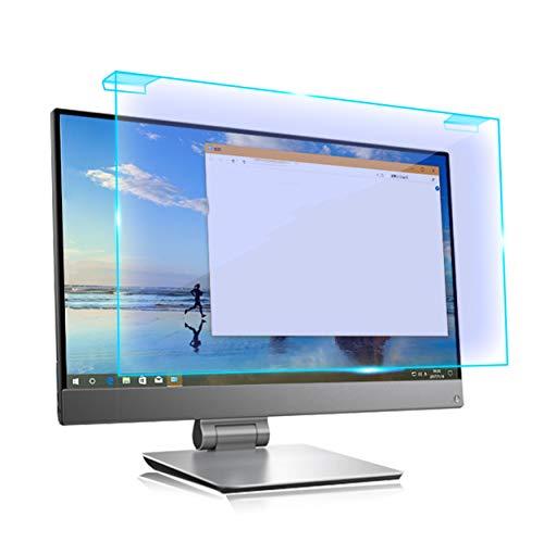 Bueuwe Desktop Computer Screen Protector Panel Blue Blocking Anti-Glare Anti-UV Filter Film Frame Hanging Type Monitor Filter,23.6' 543 * 306mm