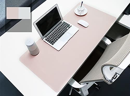 BUBM, tappetino per mouse impermeabile in similpelle, perfetto da scrivania per ufficio e casa, ultra sottile 2mm, dimensioni 80x 40cm