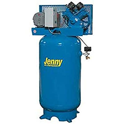 Jenny G5A-60V Single Stage Vertical Corded Electric Powered Stationary Tank Mounted Air Compressor with G Pump, 60 Gallon Tank, 1 Phase, 5 HP, 230V from Jenny Products, Inc