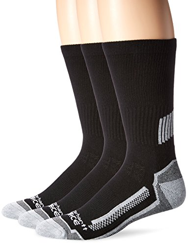 Carhartt Men's Force Performance Work Crew Socks (3/6 Packs), Black, Shoe Size: 11-15