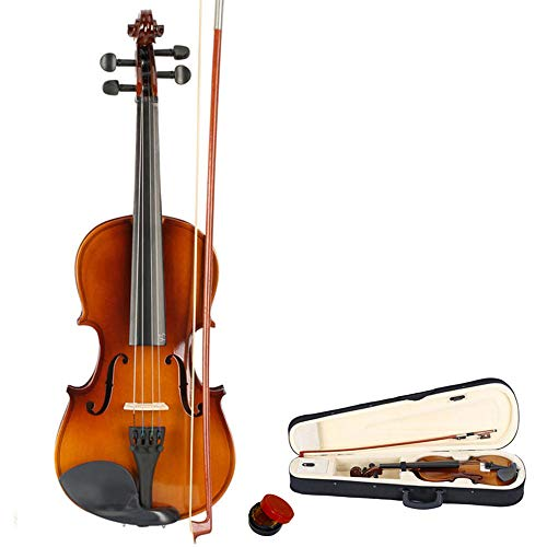ONECK full-Size 3/4 Violin Set, Acoustic Violin with Hard Case, Bow and Rosin for Beginner